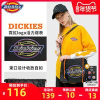 Dickies潮牌斜挎包男帆布女包大容量霓彩印花骑行束口单肩邮差包