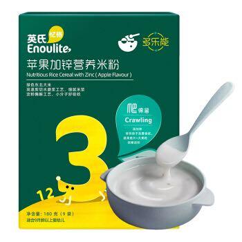 Engnice 英氏 宝宝苹果加锌米粉 3段 180g *3件