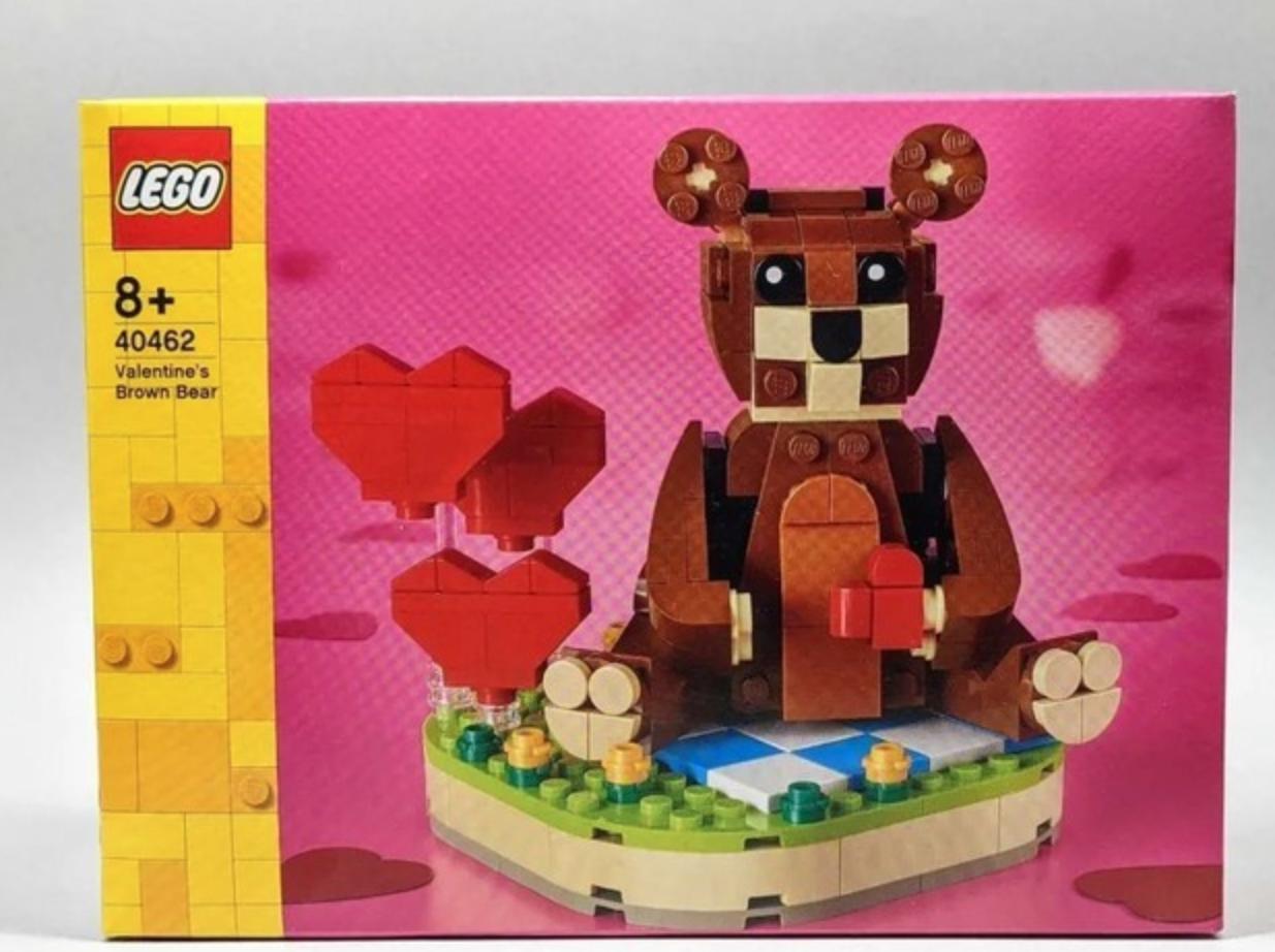 LEGO 乐高 BrickHeadz方头仔系列 40462 情人节爱心棕熊