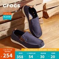 Crocs男鞋 卡骆驰 男士休闲鞋低帮帆布鞋平底 一脚蹬 乐福鞋 单鞋 /11270 深蓝/水泥灰-46K 44(280mm)