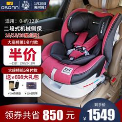 Osann欧颂儿童安全座椅汽车kin系列 KIN二代 热情红-儿童安全座椅