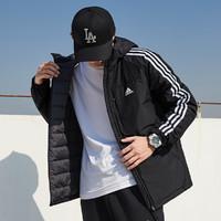 男装新款舒适保暖运动休闲连帽羽绒服外套 GF0098 黑色S