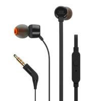 JBL 杰宝 TUNE 110 入耳式耳塞式有线耳机 黑色