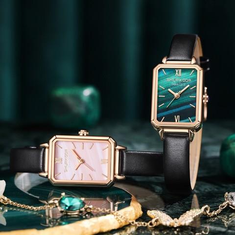 小绿表简约气质2020新款时尚品牌女士手表ins风学生名牌正品防水