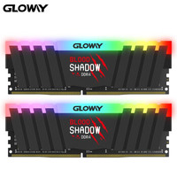 21日8点:GLOWAY 光威 血影系列 DDR4 3600MHz 台式机内存条 16GB(8GBx2)套装