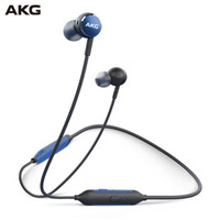 AKG Y100 WIRELESS 颈挂式蓝牙耳机 海军蓝