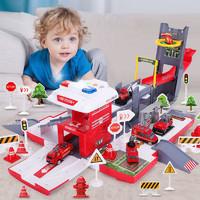 汇奇宝 可变形货柜车停车场轨道玩具