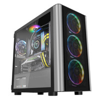 Tt(Thermaltake)启航者F1 PRO 黑色 Mini机箱水冷电脑