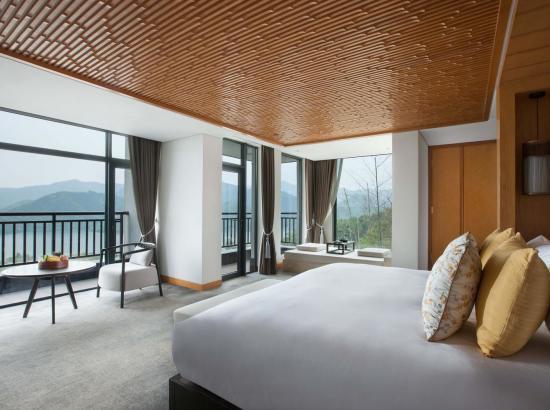 俯瞰湖景,坐拥竹海!阿丽拉·安吉 湖景大床房2晚(含双人早餐+下午茶+欢迎水果+6项酒店室内外活动体验)