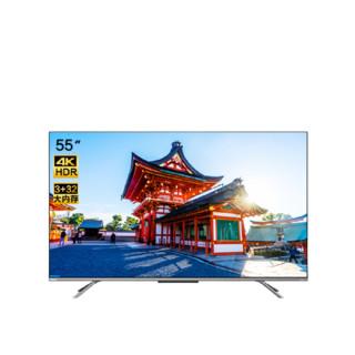 TOSHIBA 东芝 电视55英4K超高清液晶全面屏AI智能远近场语音四核超大内存家用彩电 55C340F