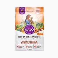 京东PLUS会员:HALO 自然光环 全价健美鸡鱼成猫粮 10磅