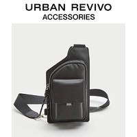 URBAN REVIVO AM40TBCN2002 男士配件简约多层结构胸包