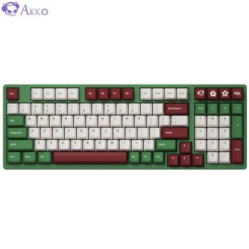 AKKO 3098 DS 红豆抹茶 98键机械键盘 AKKOv2 粉轴