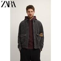 ZARA新款 男装 冬季灯芯绒棉服夹克外套 08574383807