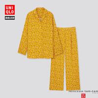 UNIQLO 优衣库 432002 女装缎纹花式睡衣