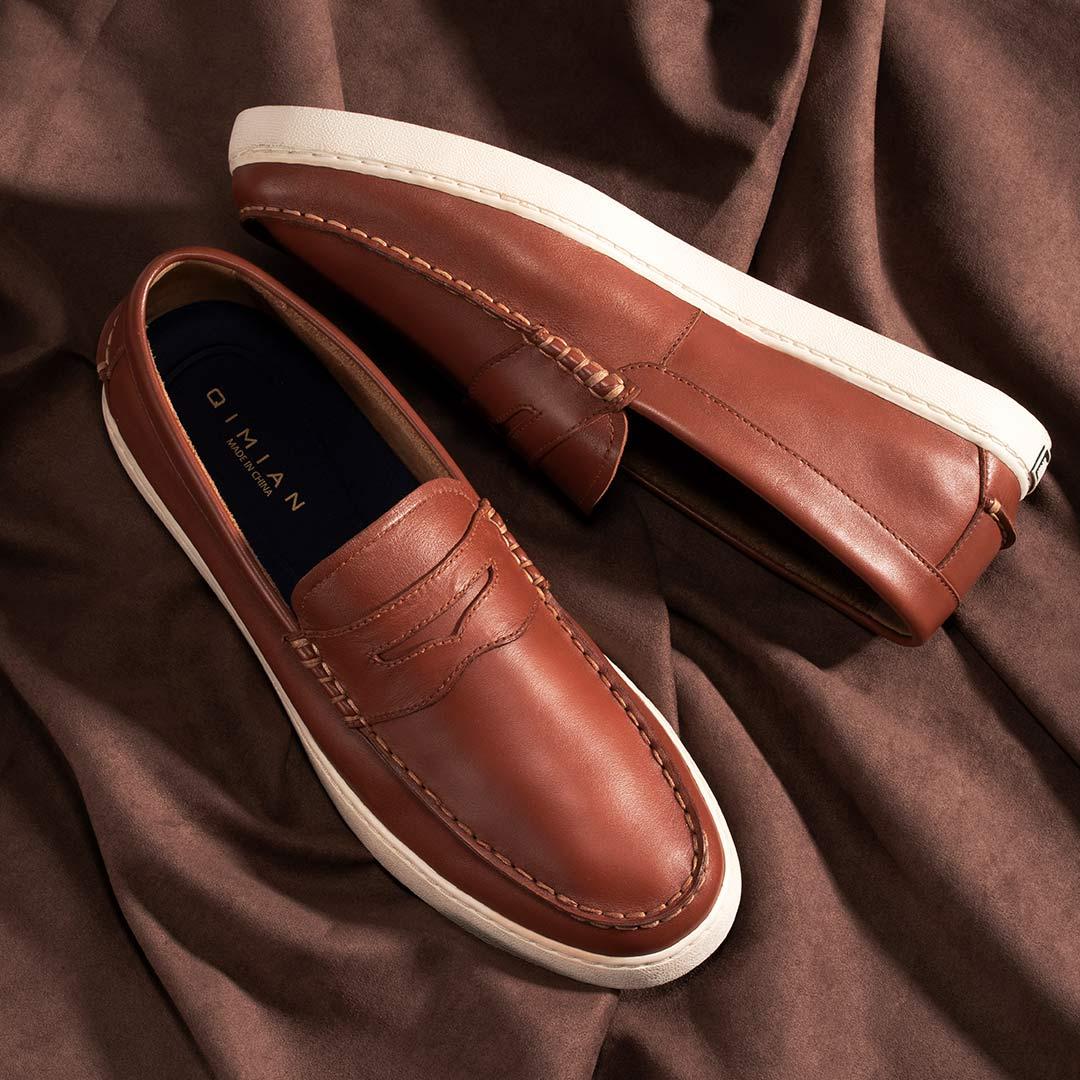 七面 Elite系列 BX704E01 男士牛皮硫化休闲鞋