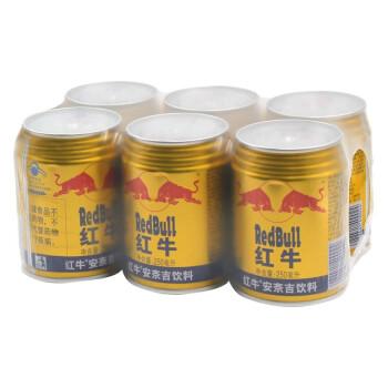 有券的上、疯狂星期三 : RedBull 红牛 安奈吉饮料 250ml*6罐/组  *2件