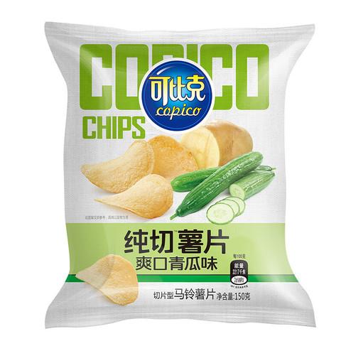 copico 可比克 纯切薯片 150g *23件