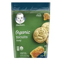 Gerber 嘉宝 宝宝有机饼 干蜂蜜口味 四段 *10件
