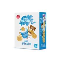 小皮(LittleFreddie)全谷物牛奶饼干宝宝零食磨牙饼干无添加糖盐(12+月龄适用)80g*1盒 *2件