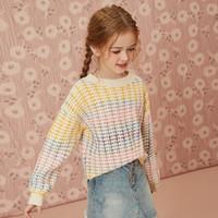 ASK junior 女童保暖彩色针织衫