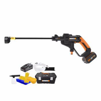 威克士Worx20V锂电无线洗车机WG629E.3(豪华版)4.0AH电池家用高压清洗机车载洗车水枪泵汽车摩托车用品