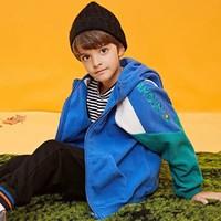 ASK junior 双面摇粒绒儿童连帽夹克外套