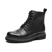 2020年冬季新款男士时尚休闲系带短靴透气马丁靴酷潮男机车靴