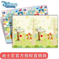 迪士尼/Disney 爬行垫 环保婴儿玩具整体泡沫地垫 熊熊身高尺+米奇字母 180*150*2.0
