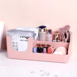 HOUYA好雅 化妆品收纳盒 桌面口红护肤品收纳架塑料置物架梳妆台 大号 *3件
