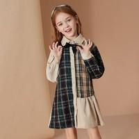ASK junior 女童格纹连衣裙