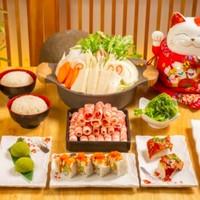 北京10店通用!晓寿司·日本料理 精选肥牛寿喜锅双人餐