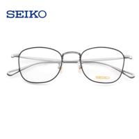 SEIKO 精工 纯钛超轻眼镜架H03097(赠明月1.67非球面镜片 2片)