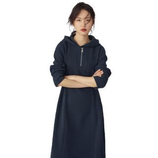 FANSILANEN 范思蓝恩 女士连帽卫衣长裙 204787