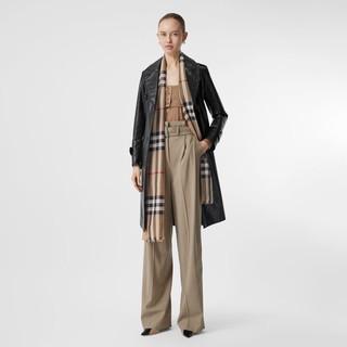 BURBERRY 博柏利 男女款羊毛格纹围巾 80184681 典藏米色 220*70cm
