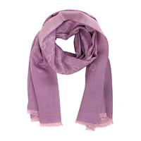 GUCCI 古馳 女士羊毛經典雙G提花披肩圍巾165904 3G646 5372 紫色 180*45cm