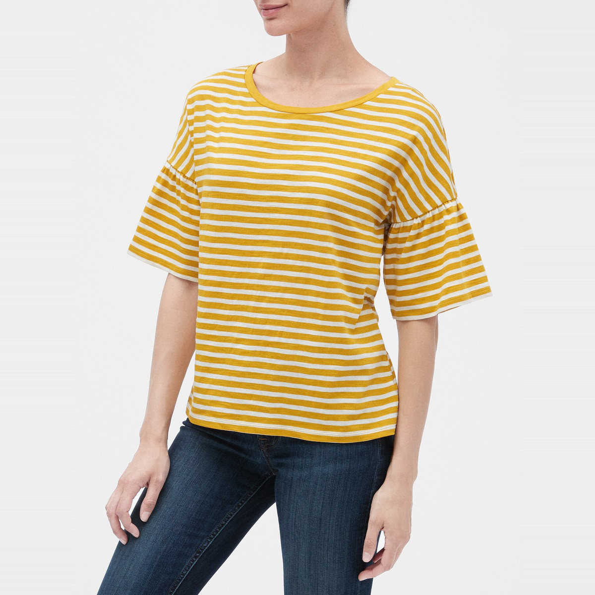 Gap 盖璞 495586 女士喇叭袖T恤
