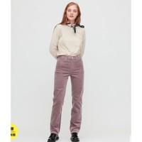 UNIQLO 优衣库 430666 高腰灯芯绒直筒牛仔裤