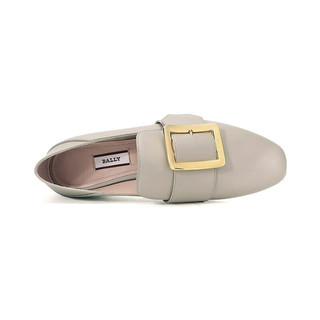BALLY 巴利 JANELLE系列 女士皮质平底单鞋 6228179 灰色 37