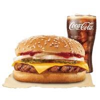聚划算百亿补贴:BURGER KING 汉堡王 1层芝牛肉堡单人餐 单次兑换券