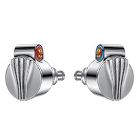 FiiO 飞傲 FD5 入耳式挂耳式有线耳机 银色 3.5mm