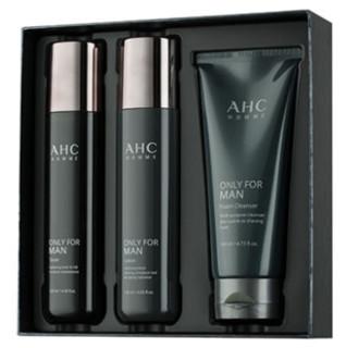 AHC 男士烟酰胺护肤套盒 (洗面奶140ml+爽肤水120ml+乳液120ml)