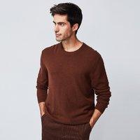 纯细密山羊绒轻质柔软秋冬保暖男士百搭圆领羊绒衫