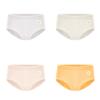BONAS 宝娜斯 女士小雏菊三角内裤套装 DS9901 4条装(浅莲灰+奶茶肤+豆沙绿+樱草黄)
