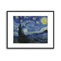 买买艺术 梵高《星月夜》艺术版画  装饰画  50*40cm