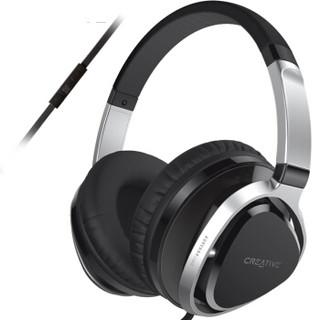 CREATIVE 创新 Aurvana Live2 耳罩式头戴式有线耳机 黑色