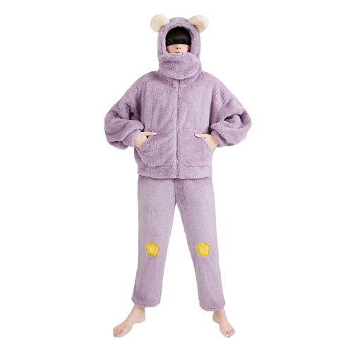 DAPU 大朴 AE4F12216 熊系列 女士连帽睡衣套装 *2件