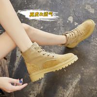 哈森集团旗下20秋季新款马丁靴女机车女靴短靴