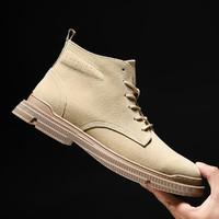 新款男靴工装靴耐磨潮鞋英伦风男战术马丁靴