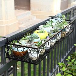 安尔雅  欧式阳台花架 铁艺栏杆多层悬挂式花盆架壁挂绿萝多肉花架